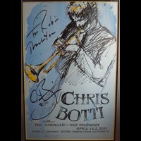 Print by Earl Newman, autographed by Chris Botti as gift to Rob
