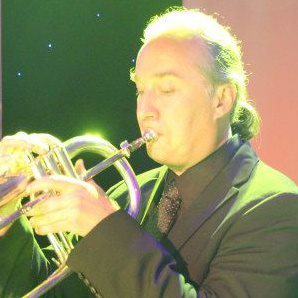 Rob Birdwell playing the Flugelhorn in Macau, China with Halie Loren and Band